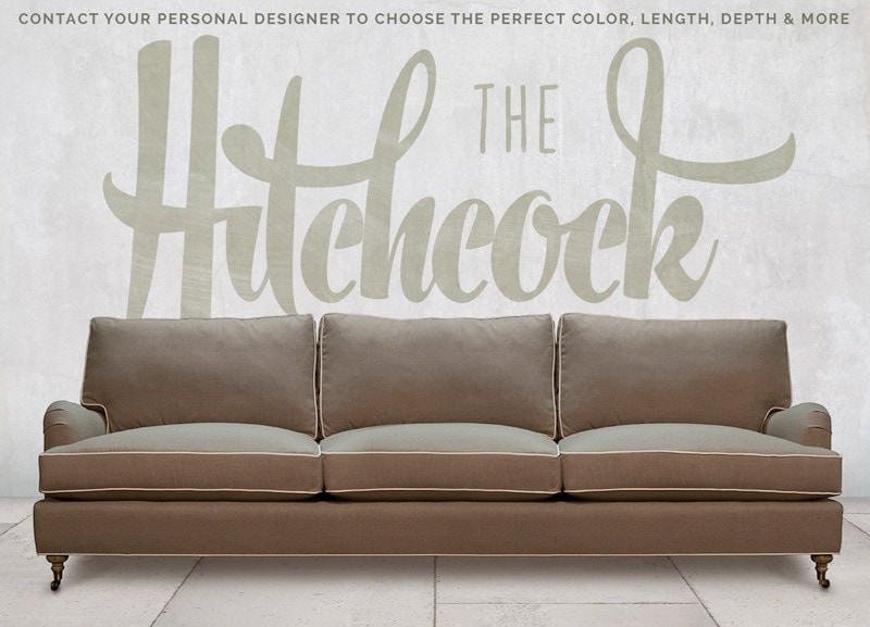 Hitchcock Pillowback English Arm Sofa