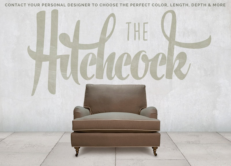 Hitchcock Pillowback English Arm Chair