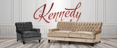 Kennedy Formal Tufted Back Roll Arm Sofas & Armchairs