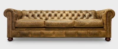 Irving Classic Natural Leather Chesterfield Sofa