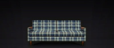 Concept Rendering Of A Redding Mid-Century Sofa In Woolrich Wool