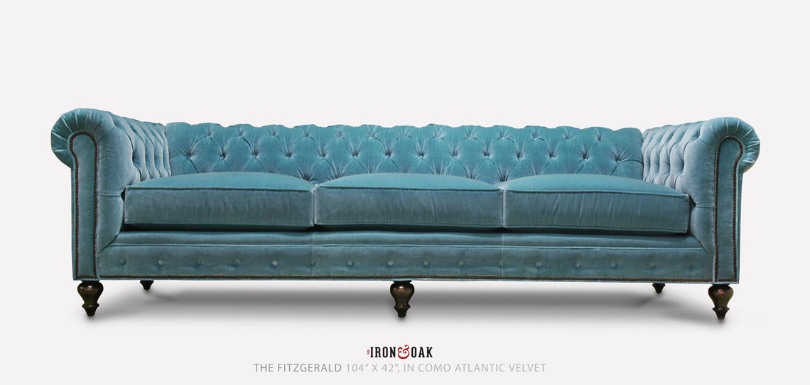 The Fitzgerald Classic Chesterfield of Iron& Oak