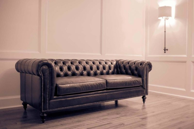 Fitzgerald Vintage Brown Leather Chesterfield Sofa