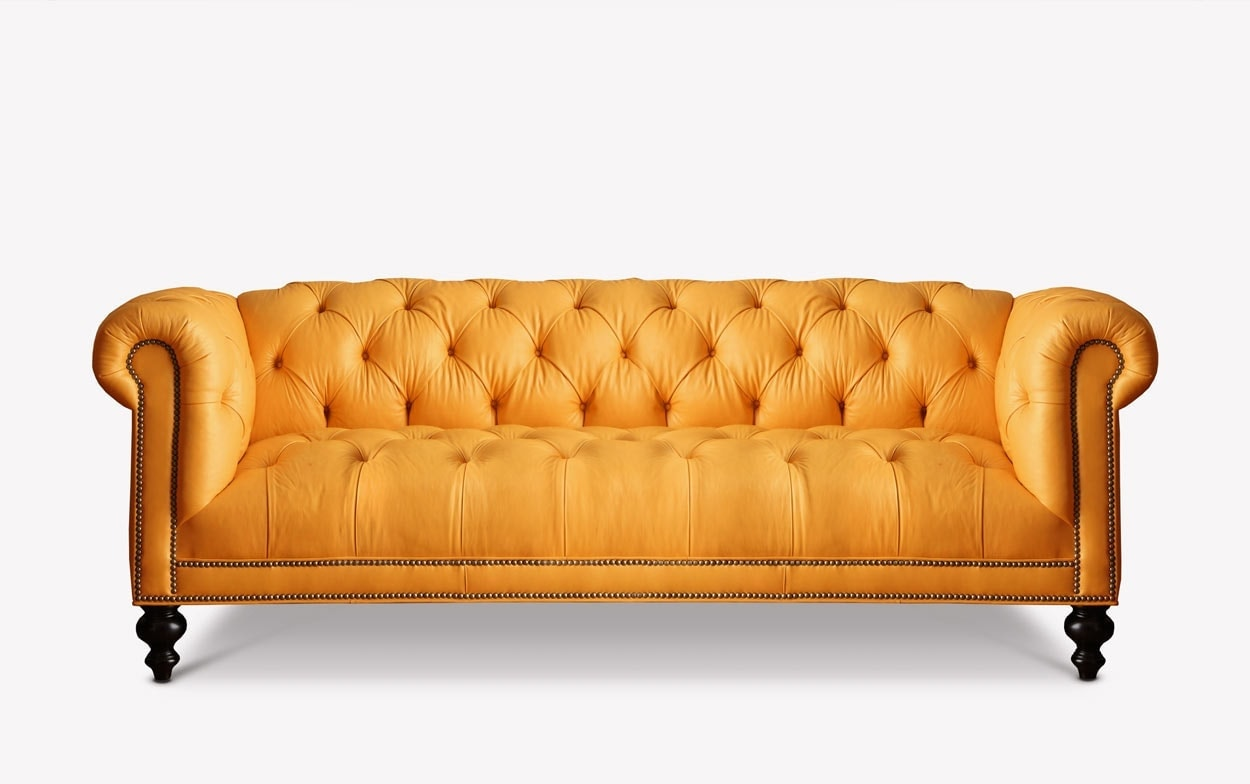 The Wright Tufted Seat Chesterfield of Iron& Oak