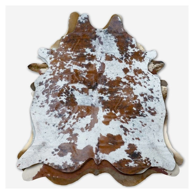 Brown & White Pattern Cowhide