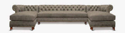 Fitzgerald Vintage Grey Chaise Sectional