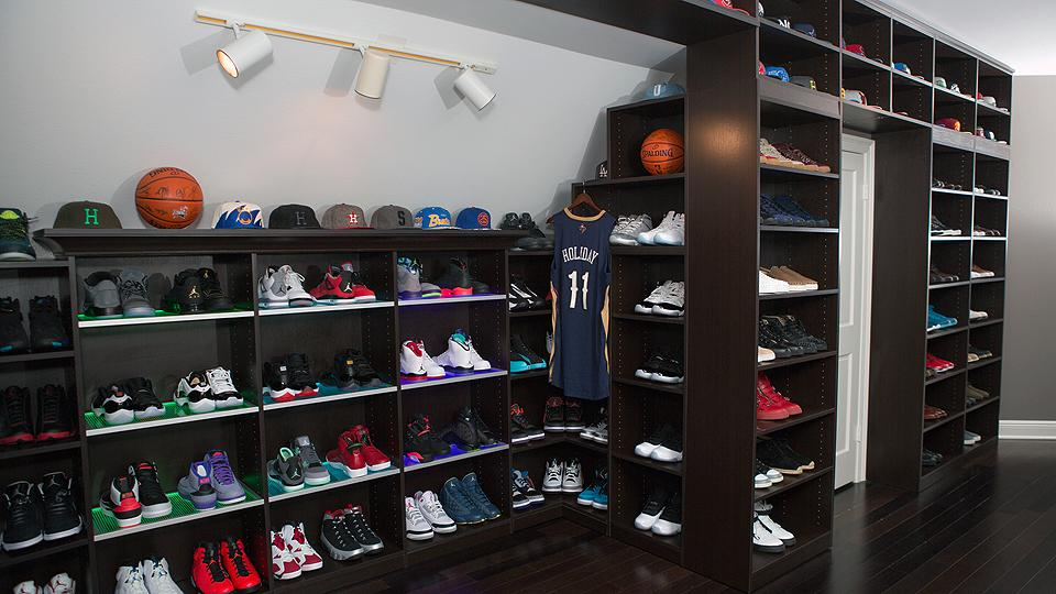 How to build your own sneaker room of iron oak for Building a shoe closet