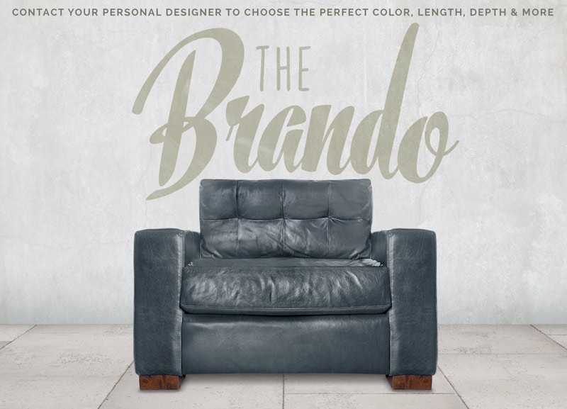 Brando Blind Tufted Track Arm Sofa