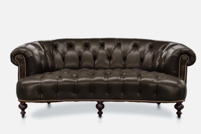 Truman Curved Chesterfield Sofa In Java Leather