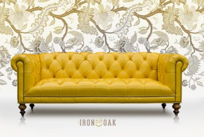 Banana Yellow Wright Tufted Seat Chesterfield
