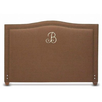 Glenview Embroidered Initial Headboard