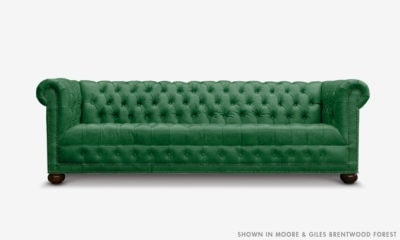 Hepburn Tufted Chesterfield Sofa In Moore & Giles Brentwood Forest Leather