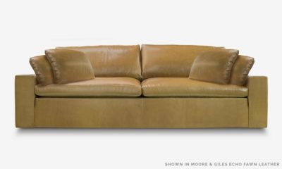 Of Iron And Oak McCloud Cloud Sofa In Moore And Giles Echo Fawn Leather