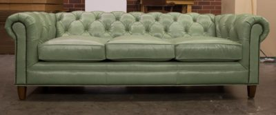 Fitzgerald Sage Leather Classic Chesterfield