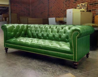 Hemingway Chesterfield With Tufted Seat In In Green Leather