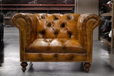 Custom Made Hemingway Chesterfield Armchair With Optional Tufted Seat And Scalloped Arm