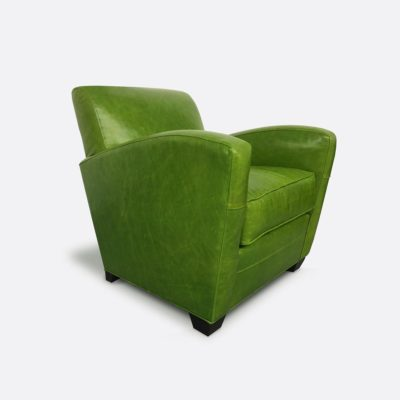 Lindy Armchair In Absolute Kiwi Leather
