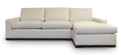 McQueen Sectional In Snow Fabric