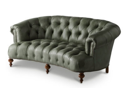 Truman Chesterfield Sofa In Grey Leather