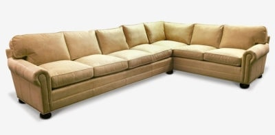 Roosevelt Tan Leather Sectional
