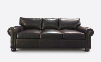 Roosevelt 88 Inch Roll Arm Sofa In Molasses Leather