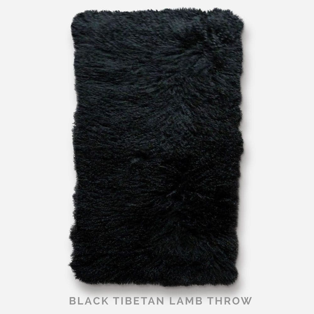 Black Tibetan Lamb Throw