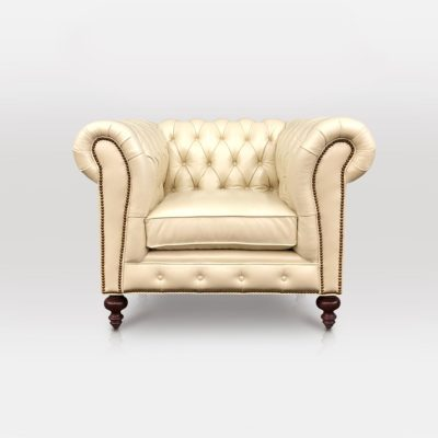 Hemingway Chesterfield Chair In Wipelli Nash Leather