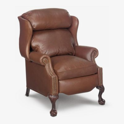 The Harry: American Made Recliner With Ball & Claw Legs