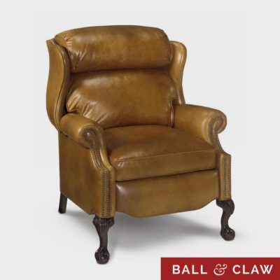 The Walt: American Made Recliner With Ball & Claw Legs