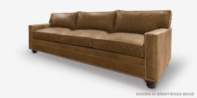 Heston Sofa In Brentwood Beige Leather