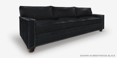 Heston Sofa In Brentwood Black Leather