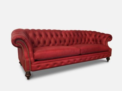 Langston Chesterfield In Red Leather