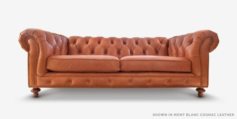 Hemingway Cognac Brown Leather Chesterfield Sofa | of Iron & Oak
