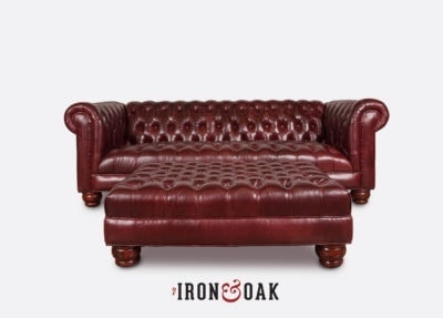 Irving Chesterfield Sleeper Sofa With Matching Ottoman