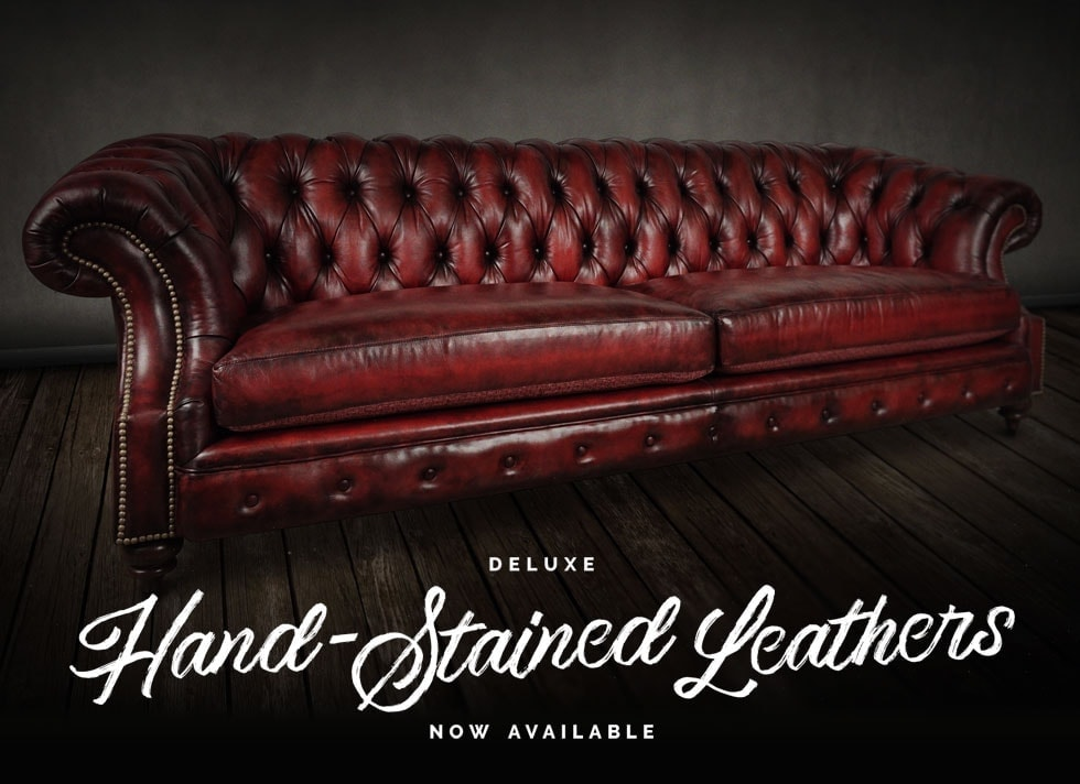Hand-stained Leather Chesterfield Furniture