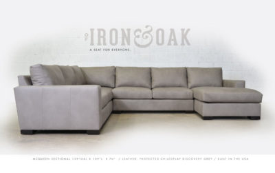 McQueen Sectional Chaise -Childsplay DISCOVERY GREY