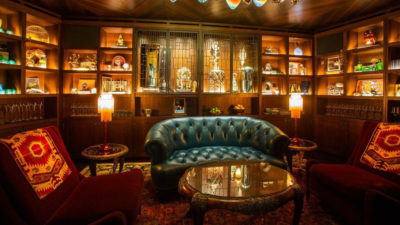 Truman Chesterfield Loveseat In The Deep Dive Bar At The Amazon Sphere's