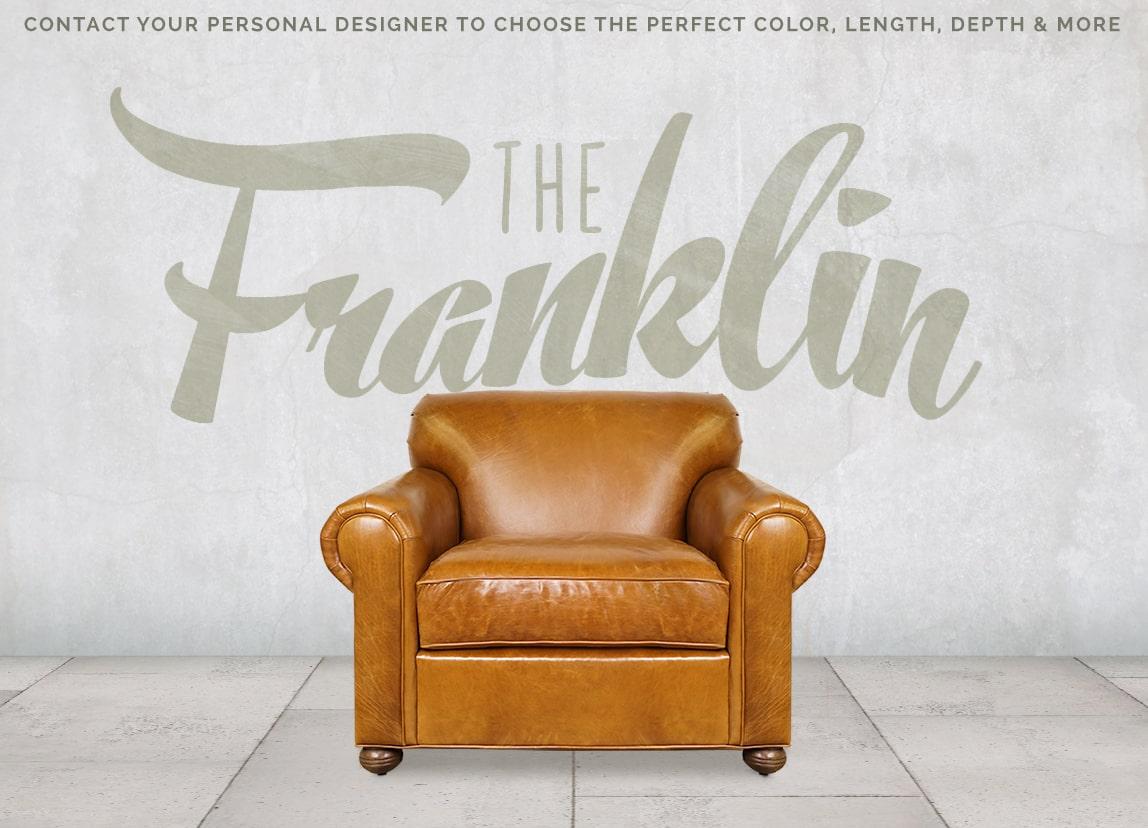 Franklin Tight Back Roll Arm Lawson Style Armchair